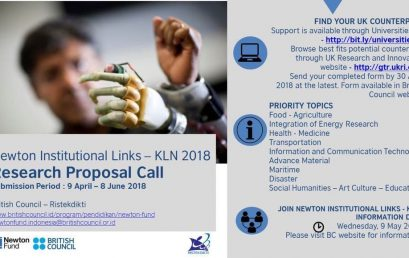 RESEARCH PROPOSAL CALL – Newton Institutional Links – KLN 2018