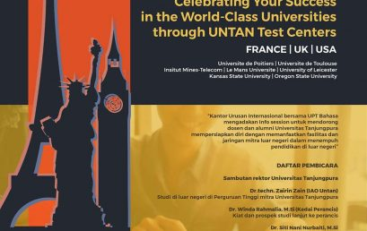 INFO SESSION : Celebrating Your Success in the World-Class Universities through UNTAN Test Centers